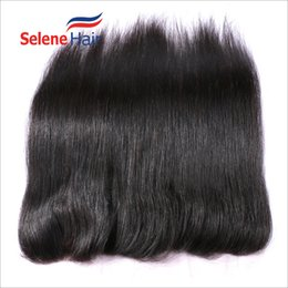 Wholesale Virgin Lace Closure 13x2 - 13x2 Inch Unprocessed Virgin Brazilian Silky Straight Human Hair Lace Frontal 130% Hair Density Three Part Front Lace Closure fast delivery