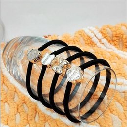 Wholesale Hair Beads For Girls - Popular Fashion Designer Black Elastic Hair Ties Bands For Women Ladies Bead Scrunchies Girls Accessories Headpiece Fascinator 7 Styles Sale