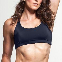 Wholesale Convertible Sports Bra - Women Sport Bra Black Color Sexy Crop Tops Cross Bralette Bustiers Underwear Female Lingerie