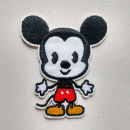 Wholesale Cute Iron Patches - Mickey Mouse Cute Iron On Embroidered Cartoon Patch Shirt Kids Gift Shirt Bags Decorate Individuality Badge