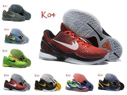 Wholesale Mens Road Cycling Shoes - 2016 New Kobe 6 Classic Flynits Retired Road Master Weaving Mens Basketball Shoes Fashion Men's Kobes Running Shoes 40-46