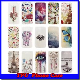 Wholesale Eiffel Iphone - For Samsung IPhone 6 Love Tree Lover Dreamcatcher Glow In Dark Henna Mandala Soft TPU Case Eiffel Tower Skin Free shipping