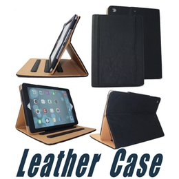 Wholesale Apple Smart Case Air Leather - Colors Leather Case with Wallet Stand Flip Smart Cover For iPad 2017 Air 2 3 4 5 6 7 Air Air2 Pro 10.5 9.7 inch Mini Mini2 Mini3 Mini4