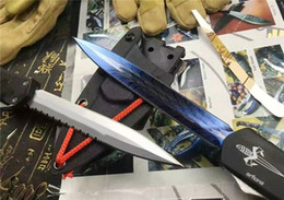 Wholesale Double K - 2 Style Vespa Microtech Double Action Knife Survival Knife With K Sheath Collection Tactical Hunting Knife In Original Box F830L
