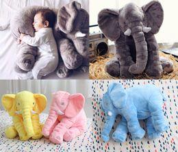 Wholesale Elephant Blue Baby - 2016 New Fashion Baby Animal Elephant Pillow Feeding Cushion Children Room Bedding Decoration Kids Plush Toys Children's blanket 45x25x60cm