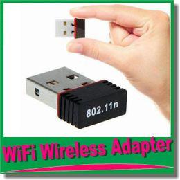 Wholesale Antena G - Nano 150M USB Wifi Wireless Adapter 150Mbps IEEE 802.11n g b Mini Antena Adaptors Chipset MTK7601 Network Card 100pcs Free DHL OM-CH5