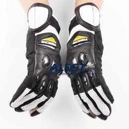 Wholesale Motorcycle Gloves Taichi - Free shipping RS Taichi Racing Genuine Leather touch screen Gloves Carbon tactical Gloves Driving Motorcycle MOTO GP Gloves