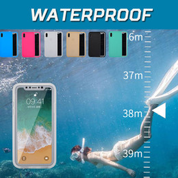 Wholesale Gel Sealing - Waterproof Case Water Resistant 100% Sealed Underwater Diving Full Body Soft TPU Gel 360 Degree For iPhone X 8 7 Plus 6 6S 5S 5 Samsung S7