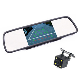 Wholesale Rear Vision Mirror Reverse Camera - HD Video Auto Parking Monitor, 4.3 inch Car Rearview Mirror Monitor with LED Night Vision Reversing CCD Car Rear View Camera