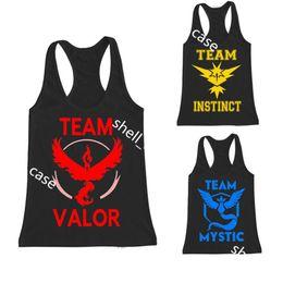 Wholesale Tshirt Vest Men - Poke team instinct vest valor mystic tanktop tank tops summer women men kids children casual sports wear sleeveless tshirt vests