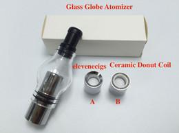 bobina de rosquilla Rebajas 2016 Glass Globe Atomizer con cerámica Donut Coil pyrex glass tank Wax Glass Globe Vaporizador para 510 hilos batería