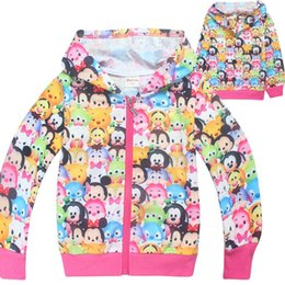Wholesale Girls Hoodie Tshirt - INS spring autumn girls TSUM Hoodie Hoody long sleeved cotton hooded Sweater tshirt with zipper 4-10years
