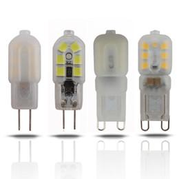 Wholesale G4 Smd 12v Cold - New Design PVC G9 LED Bulb, DC12V AC12V 220V 110V 2W 3W Cold Warm White G4 LED Lamp Replace for Halogen Spotlight Chandelier