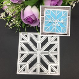 Wholesale Decorative Stamps - Stitched Frame Metal Cutting Dies Stencils for DIY Scrapbooking Stamp Decorative Embossing DIY Paper Cards Folder