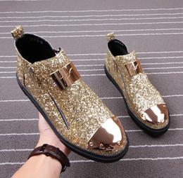 Wholesale Wedding Dresses Colour - 2018 mens shoes Men's Casual barber Casual shoes stylist colours rivet mens designer shoes sequins men luxury loafers 68