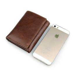Wholesale Mens Rfid Wallets - Mens Genuine Leather Credit Card Bag RFID Wallet Anti Theft Wallet Safety Shield Purse Coffee and Chocolate Color 8105