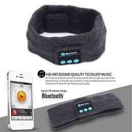 Wholesale Iphone Tie - bluetooth Earphone For Iphone 7 Handband Edge Yoga Hat Sport Cap Headset Wireless Hand Band Earplug Music Player Handphone 300 PCS YYA578