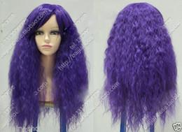 2019 peluca lolita resistente al calor Envío gratis nueva alta calidad moda foto pelucas llenas del cordón Cosplay lolita púrpura a prueba de calor peluca rizada media peluca lolita resistente al calor baratos