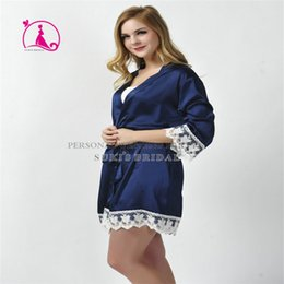Wholesale Ladies Pajamas Xl New - Wholesale- 2016 new arrival fashion Dressing ladies Women Sexy Silk Lace Robe Babydoll Sleepwear Lingerie Nightdress Pajamas SD4