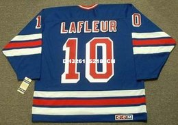 Wholesale Guys Nylon - Cheap custom retro GUY LAFLEUR New York Rangers 1988 CCM Vintage Away Jerseys Throwback Mens stitched Hockey Jersey