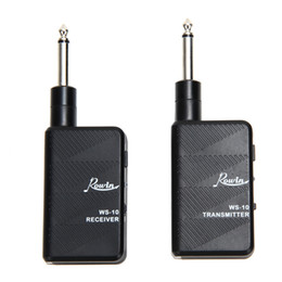 Wholesale Electric Guitar Wireless - Wholesale- Audio Interface Guitar Bass Wireless Audio Transmitter Receiver Kit 2.4Ghz Digital Electric Guitar Playing Accessory