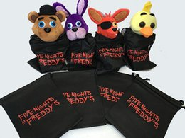 "Wholesale Goody Bags - FNAF Drawstring Bags Five Nights at Freddy's 8"" Party Gift Candy Goody Bags Nylon Freddy Bag Carrying Bag for Kids Toys DHL shipping"