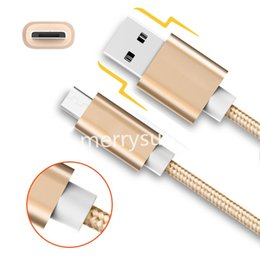 Wholesale Micro Usb Cable Long - Good Quality 3Ft 6Ft Micro usb i5 i6 i7 Fabric Braided Nylon Sync Cloth Woven Universal Micro USB Cable Cord Extra Long Extension For Samsun