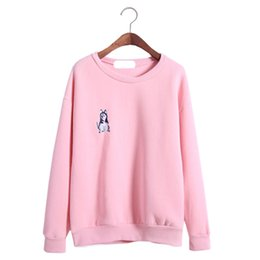 Wholesale Express Clothing - Wholesale- 2017 express sweater women poncho autumn new jumper fleece printed sweaters shirt women's pullover clothing vestidos LBD5662