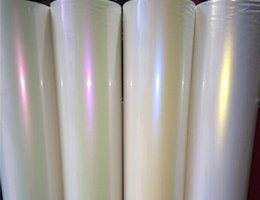 Wholesale Car Wrap Pearl White - Glossy Pearl Ceramic White Chameleon Color Gradual Change Vinyl Film Car Wrap Sticker with Air Drains 1.52m*20m roll with Free Gift Scraper