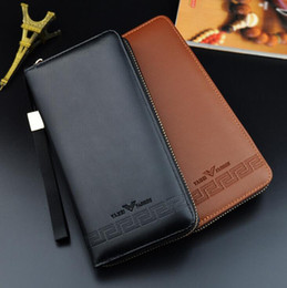 japan cell phones Coupons - Factory wholesale brand bag gentleman style leather Long Wallet Purse custom color business card are embossed leather hand Wallet