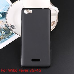 Wholesale Silicone Case For 3g - New Soft TPU Silicone Gel Case for Wiko Wiko Fever 3G   4G Phone Coque Cases Capa Caso Cas Bag Fundas Shell Cover Wholesale