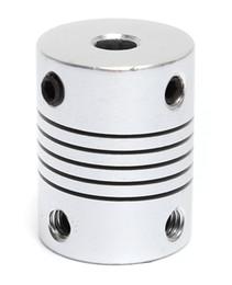 Wholesale 5mm 8mm Coupling Shaft - 3D printer Stepper Motor Flexible Coupler Resilient shaft couplings 1pce Inner diameter 5mm&8mm Length=25mm hot sell product motor coupling