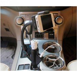 "Wholesale Cigarette Gps Holder - Multifunction Universal Adjustable Mobile Phone Holder for iPhone 6 plus 5.5"" With Cigarette Lighter USB Charger Adapter For Car"