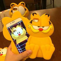 Canada 2016 nouvelle bande dessinée 3D garfield ripndipp rock corna chat japon totoro étui en silicone souple pour iphone4 4s / 5 5s / 5c / 6 6s / 6plus 6s plus Offre