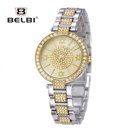 Wholesale Battery Snowflake - AAA Women Watches Brand Luxury Snowflake Diamond Decoration Female Wristwatches Fashion Waterproof Quartz Movemnet Watch BELBI
