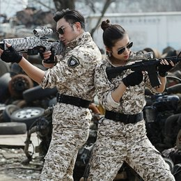Wholesale Tactical Training Uniforms - Men Tactical Jacket Sets Camouflage Hunting Clothes Army Uniform Special Forces Combat Suit Training Wear Work Clothes