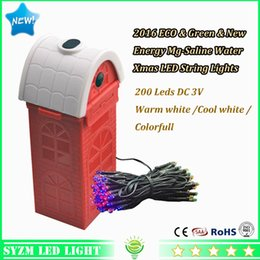 Wholesale Outdoor Holiday Twinkle Lights - Outdoor LED String Lights 12W Twinkle Holiday lighting DC3 volt Mg-Bar Saline water Battery Operated LED Christmas Decoration Light