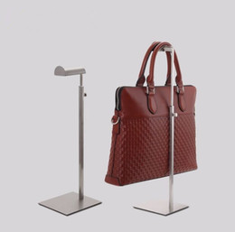 Wholesale Metal Handbag Stands - 10pcs hot sale mirro Stainless steel adjustable bag display rack Hair holder handbag Silk scarf display stand rack free shipping