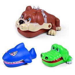 Wholesale Dog Gag - Wholesale- New Creative Cartoon Shark Trick Dog Toys Prank Crocodile Biting Finger Family Game Toys Novelty Gag Toys