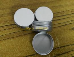 2019 aluminium-flaschenpakete Freies Verschiffen 10 ml Aluminium Balsam Zinn topf Jar 10g comestic behälter mit gewinde Lip Balm Gloss Kerze Verpackung flasche günstig aluminium-flaschenpakete