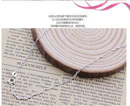 Wholesale Brass Wave - Promotion(100pcs lot) Plated 925 Sterling Silver Necklaces water wave chain Safety without stimulation not fade Necklaces Length 45cm*1.5mm