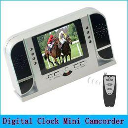 Wholesale Pc Control Dvr - Mini Spy Clock Camera 720P HD Lens Alarm Clock DVR Spy Camera PC Cam with Remote Control