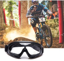 Wholesale Wholesale Atv Goggles - 100pcs Motorcycle Accessories Bike ATV Motocross UV Protection Ski Snowboard Off-road Goggles Eyewear For Helmet ZA0308