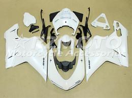 Wholesale Custom Fairings For Motorcycles - New custom white fairings kits fit for DUCATI 848 1098 1198 1098s 1198s 2007 2008 2009 2010 2010 2011 2012 model motorcycle bodywork
