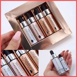 Wholesale accent color - Factory Direct DHL Free COVER FX Custom Enhancer Drops Set Ensemble Gouttes Accent-sur-mesure face liquid Highlighters 4pcs set Glow 4.5ml