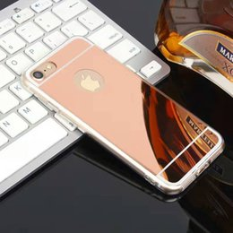 Wholesale Cheap Iphone Bumper Cases - ultra thin hybrid PC mirror soft TPU bumper case cover skin for iPhone 7 and iPhone 7 Plus cheap case