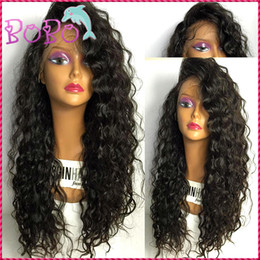 Wholesale Long Brown Braided Wig - Wet And Wavy Virgin Brazilian Hair Glueless Front Lace Wigs Brazilian Deep Wave Human Hair Braiding Full Lace Wig Fast Delivery
