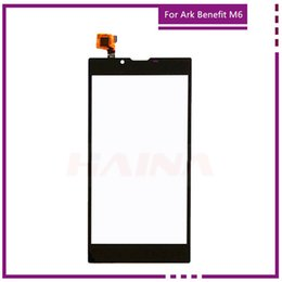 Wholesale Inch M6 - Wholesale- Mobile Phone 5.5 inch Touch Screen Digitizer Touch Panel Touchscreen For Ark Benefit M6 Front Glass Sensor Lens