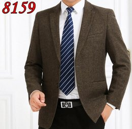 Wholesale Cashmere Wool Suits Men - Wholesale-2016 Men's wool business casual suit men's wear business suit winter coat large yards middle-aged cashmere single