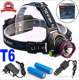 cargador de linterna cree q5 Rebajas 6000 Lúmenes CREE XM-L XML T6 LED Faros Linterna Faro Linterna Lámpara de luz + 2 * 18650 batería + cargador + Cargador de coche